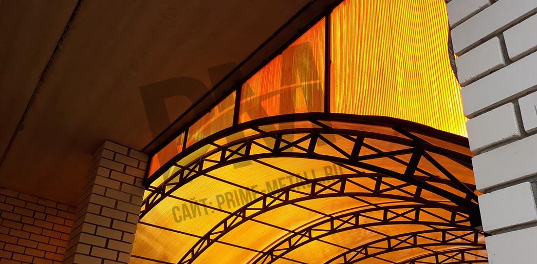 навесы из поликарбоната смоленск, прайм металл смоленск