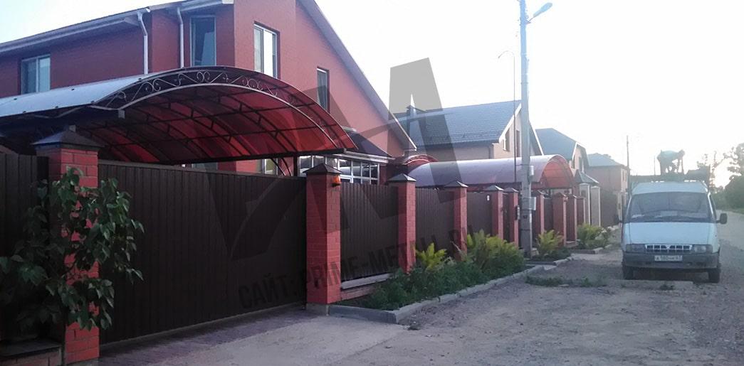 производство навесов в смоленске, навес из поликарбоната частный дом